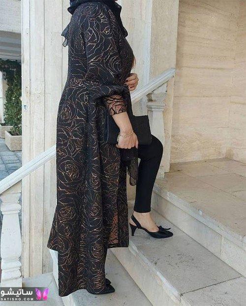 manto meshki satisho 90 - مدل مانتو مشکی دخترانه برای محرم 1400