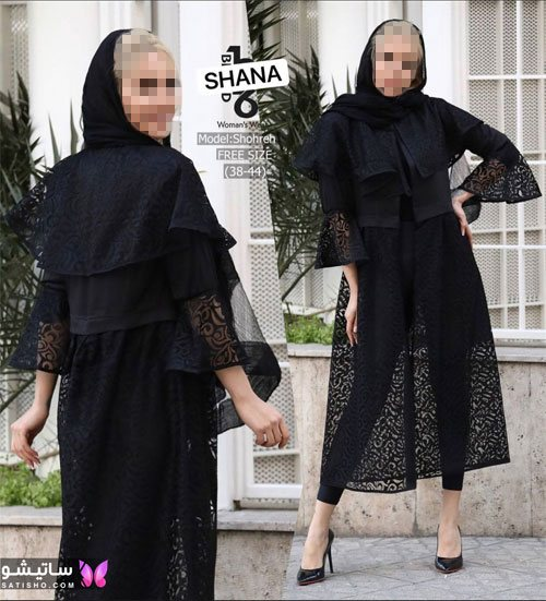 manto meshki satisho 94 - مدل مانتو مشکی دخترانه برای محرم 1400