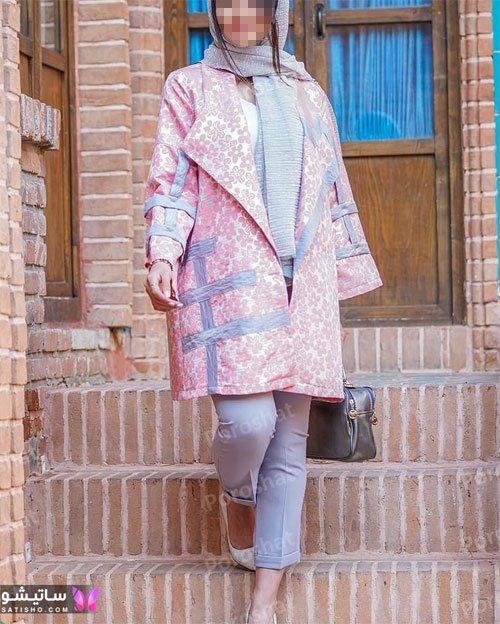 manto nakhi satisho 20 - مدل مانتو نخی شیک گلدار با طرح های حریر اسپرت دخترانه و زنانه
