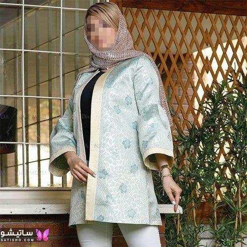manto nakhi satisho 23 - مدل مانتو نخی شیک گلدار با طرح های حریر اسپرت دخترانه و زنانه