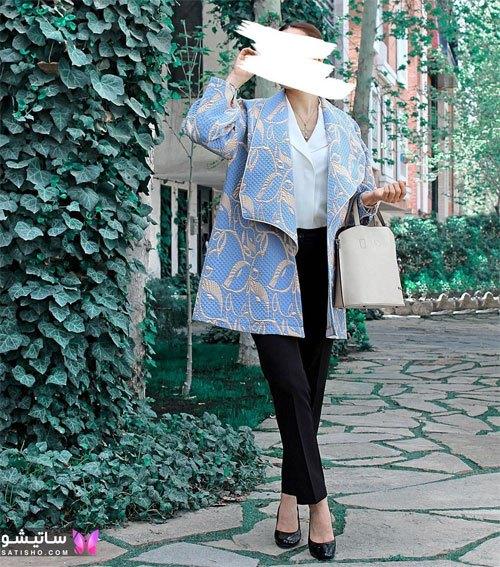 manto nakhi satisho 28 - مدل مانتو نخی شیک گلدار با طرح های حریر اسپرت دخترانه و زنانه