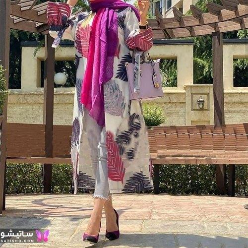 manto nakhi satisho 31 - مدل مانتو نخی شیک گلدار با طرح های حریر اسپرت دخترانه و زنانه