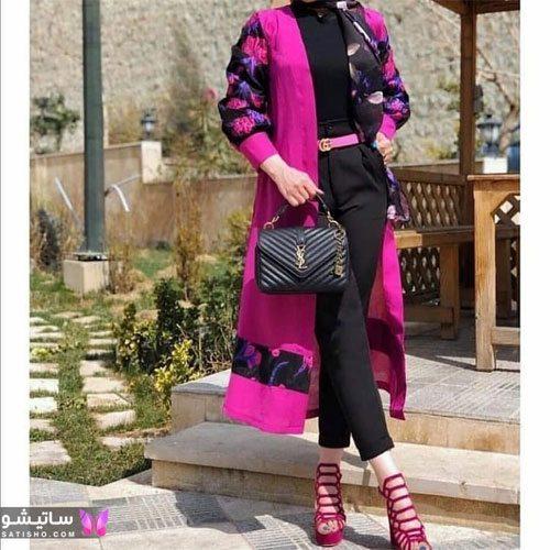 manto nakhi satisho 32 - مدل مانتو نخی شیک گلدار با طرح های حریر اسپرت دخترانه و زنانه