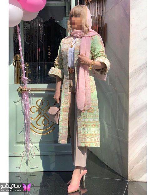 مدل مانتو جلو باز لاکچری در اینستاگرام