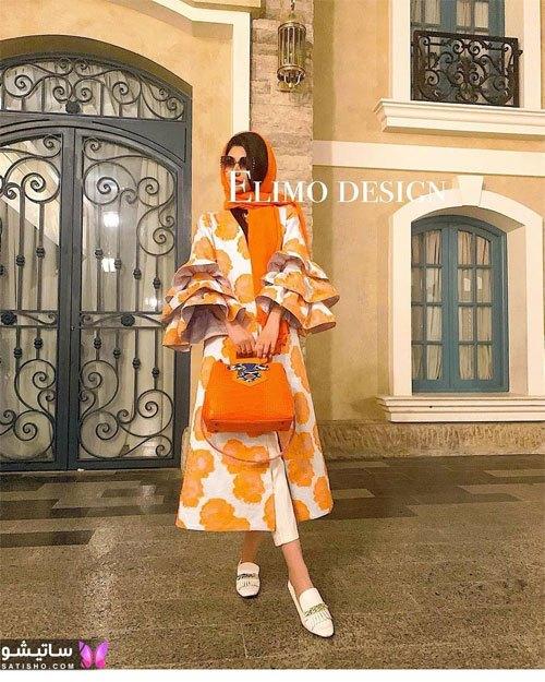 لباس زنانه با استین فانوسی 1400