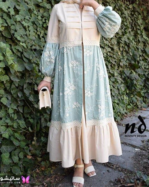 لباس دوتیکه زنانه سنتی با رنگ های پاستلی