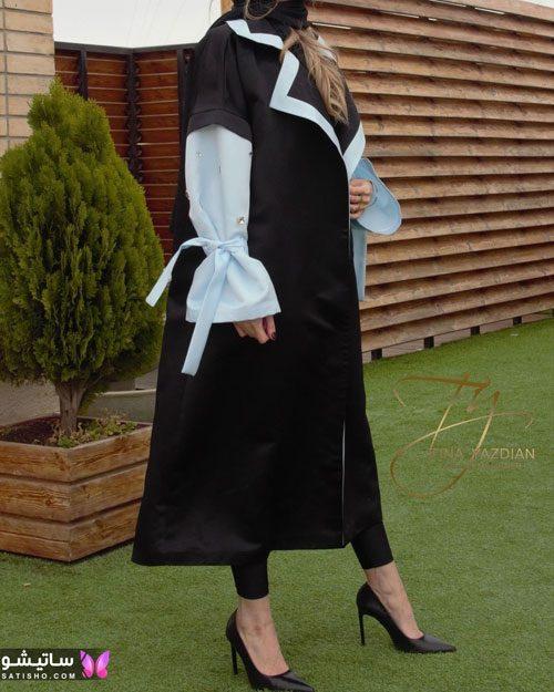 مدل مانتو سفیدمشکی دخترانه 2022