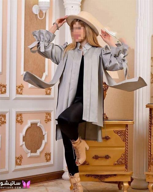 مانتو ساده و کوتاه زنانه با پارچه کرپ