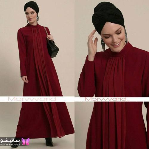 مانتو بلند لبنانی با حجاب
