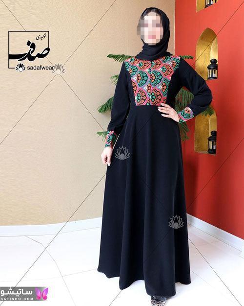 مدل مانتو اماراتی دخترانه رنگ مشکی