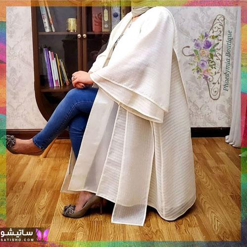 manto sefid satisho 12 - مدل مانتو سفید در طرح های اسپرت تابستانی و مجلسی زنانه 1400