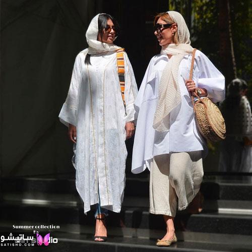 manto sefid satisho 15 - مدل مانتو سفید در طرح های اسپرت تابستانی و مجلسی زنانه 1400
