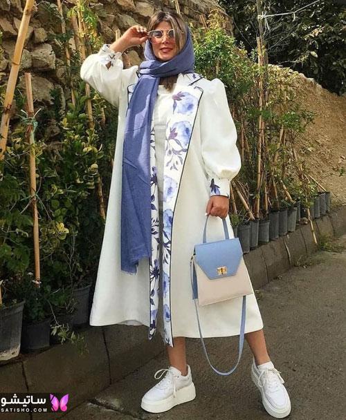 manto sefid satisho 2 - مدل مانتو سفید در طرح های اسپرت تابستانی و مجلسی زنانه 1400