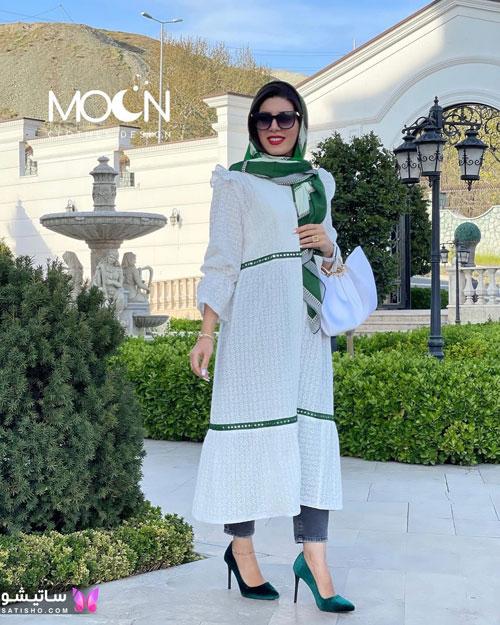 manto sefid satisho 3 - مدل مانتو سفید در طرح های اسپرت تابستانی و مجلسی زنانه 1400