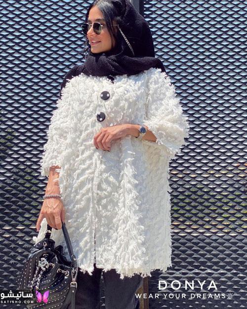 manto sefid satisho 30 - مدل مانتو سفید در طرح های اسپرت تابستانی و مجلسی زنانه 1400