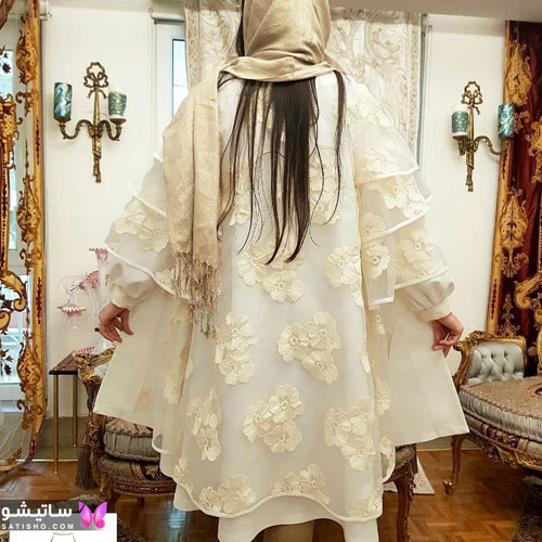manto sefid satisho 32 - مدل مانتو سفید در طرح های اسپرت تابستانی و مجلسی زنانه 1400