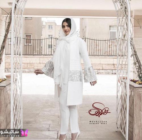 manto sefid satisho 41 - مدل مانتو سفید در طرح های اسپرت تابستانی و مجلسی زنانه 1400