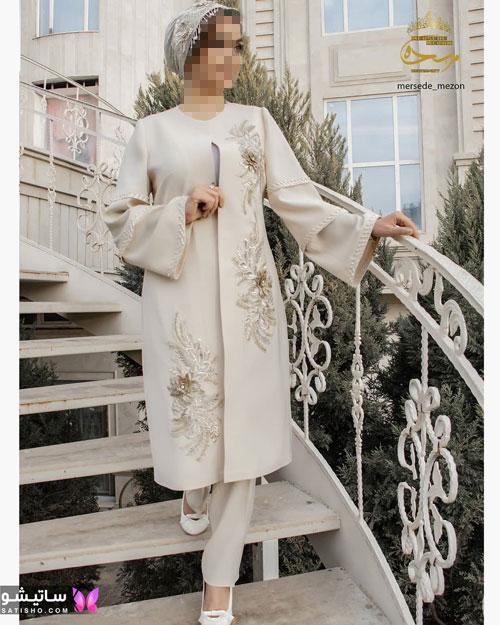 manto sefid satisho 48 - مدل مانتو سفید در طرح های اسپرت تابستانی و مجلسی زنانه 1400