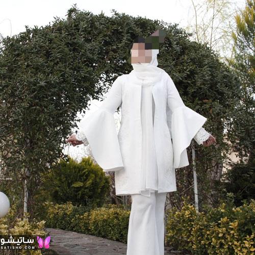 manto sefid satisho 54 - مدل مانتو سفید در طرح های اسپرت تابستانی و مجلسی زنانه 1400
