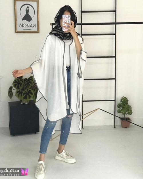 manto sefid satisho 6 - مدل مانتو سفید در طرح های اسپرت تابستانی و مجلسی زنانه 1400