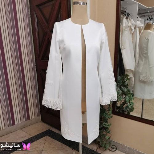 manto sefid satisho 60 - مدل مانتو سفید در طرح های اسپرت تابستانی و مجلسی زنانه 1400