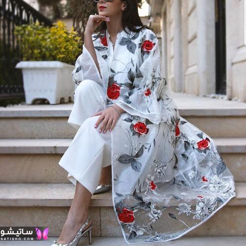 manto sefid satisho 63 - مدل مانتو سفید در طرح های اسپرت تابستانی و مجلسی زنانه 1400