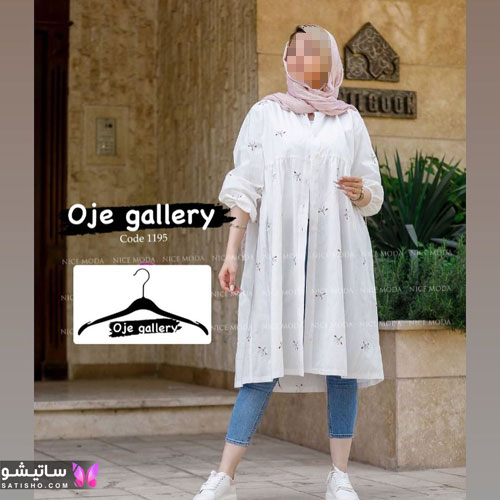 manto sefid satisho 9 - مدل مانتو سفید در طرح های اسپرت تابستانی و مجلسی زنانه 1400